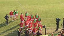 Ulster players prior to kick-off
