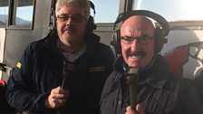 Liam Beckett (right) joins Grant Cameron (left) for Crusaders v Cliftonville