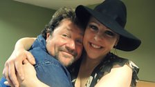 Nell Bryden and Michael Ball together