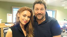 Una Healy poses with Michael Ball