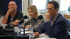Giles Fraser, Jane Fidge, Matthew Taylor.