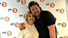 Anne Reid poses with Michael Ball