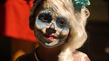 Child at Day of the Dead festivities in Oaxaca