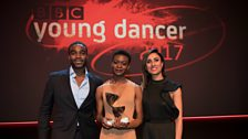 Presenters Ore Oduba and Anita Rani with winner Nafisah Baba