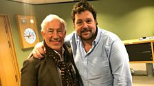 Simon Callow shares a picture with Michael Ball