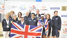 Great Britain players and Tennis Foundation team management