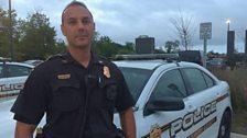 Sergeant Troy Tipett out on patrol