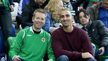 Ulster Rugby Physio Gareth Robinson and Scrum-half Ruan Pienaar