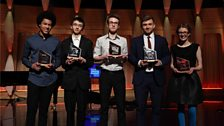 The five Semi Finalists of BBC Young Musician 2016 hold their trophies