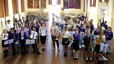 Millbrook Combined School rehearse for their Ten Pieces Assembly
