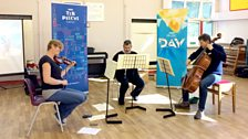 BBC musicians perform for Cardwell Primary School at their Ten Pieces Assembly