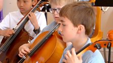 Mayfield Primary School's orchestra performs for BBC Music Day