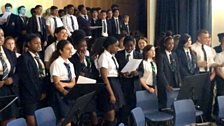 Students at Frederick Bremer School sing together