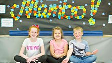 Colourful Ten Pieces artwork at Merllyn C.P. School