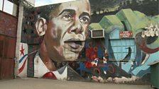Kenyan graffiti artist Bankslave created this mural