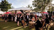 Henley Festival: Having dinner