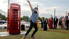 Henley Festival: Phonebox art