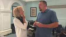 Sue gently persuades Producer Phil to try the cullen skink