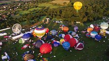 Early morning flight at Bristol International Balloon Fiesta. Photo credit B.Robinson