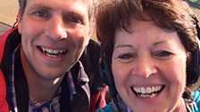 Helen Mark with Ben Robinson The Flying Archaeologist