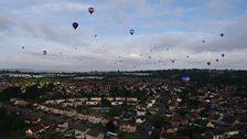 Floating east over Bristol