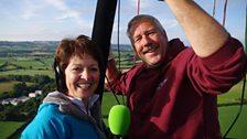 Helen Mark with balloon pilot Steve Kinsey
