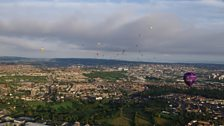 The mass balloon ascent takes shape over Bristol. Photo credit B.Robinson