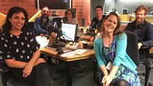 Presenters and Guests in the studio - 23rd September