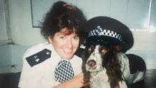 Rona Tynan when she was a police officer with the Met.