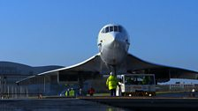 Concorde being moved