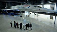 Concorde in hangar