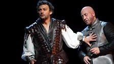 Jonas Kaufmann as Otello and Marco Vratogna as Iago