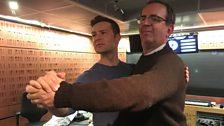 Richard and Harry Judd strike a dance pose