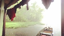 Shantyboat in a rainstorm