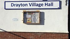 The final clue was at the village hall in Drayton