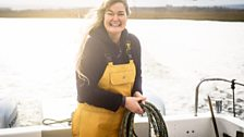 Annie is one of very few female commercial skippers in the UK