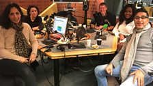 Presenters and guests in the studio - 9th December 2017
