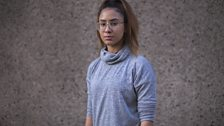 Grey polo neck with glasses