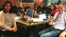 Presenters and Guests in the studio - 23rd December 2017