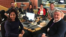 Presenters and Guests in the studio - 20 January 2018
