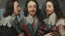 Anthony van Dyck (1599–1641), Charles I in Three Positions, 1635–36. RCIN 404420
