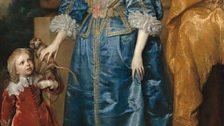 Anthony van Dyck (1599–1641), Henrietta Maria with Sir Jeffrey Hudson, 1633. National Gallery of Art, Washington, inv.1952.5.39