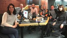 Presenters and guest in the studio - 10th February 2018