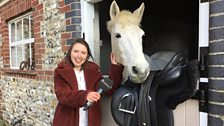 Why the long face? Anna found the treasure at Lexham Hall's stables just in time!