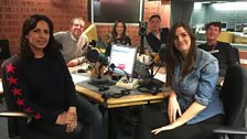 Presenters and guest in the studio - 17th February 2018