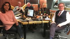 Presenters and guest in the studio - 24th February 2018