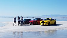We're on a pilgrimage to the Bonneville Salt Flats, Utah, the location of many a land speed record