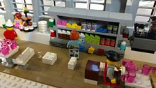 The National Museum of Scotland's cafe in Lego