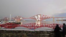The Forth Rail Bridge in Lego and the actual Forth Rail Bridge!