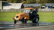 This is our very own Track-tor, and it's a 500bhp, V8-engined farming beast
